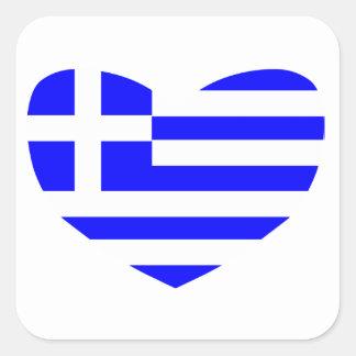 Grekisk flagga fyrkantigt klistermärke