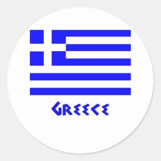 Grekisk flagga klistermärke