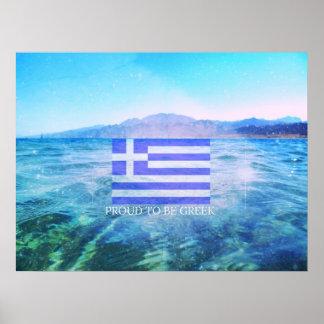 Grekisk flagga poster