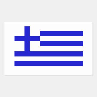 Grekisk flagga rektangulärt klistermärke