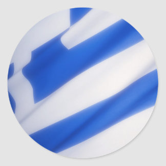 Grekisk flagga runt klistermärke