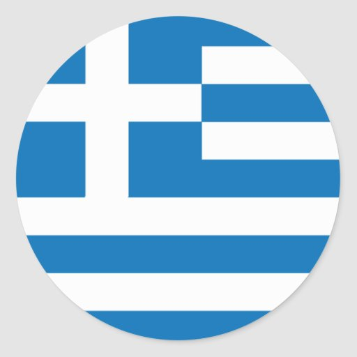 Grekisk flaggaklistermärke runda klistermärken