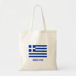 Grekisk flicka tygkasse