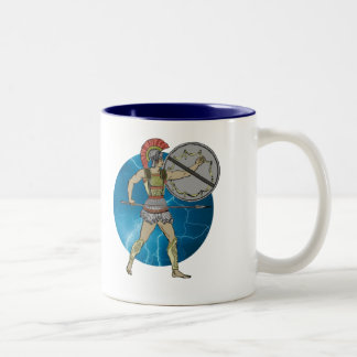 Grekisk krigare Två-Tonad mugg