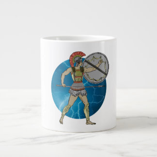 Grekisk krigaremugg (3) storleksanpassar jumbo mugg