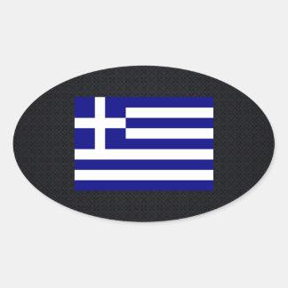 Grekisk medborgareflagga av Greece-01.png Ovalt Klistermärke