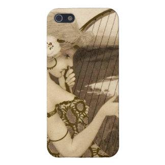 Grekisk oskuld för vintage med fodral för harpaiPh iPhone 5 Fodral