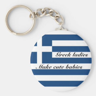 Grekiska damer gör gulliga bebis rund nyckelring