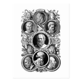 Grekiska filosofer vykort