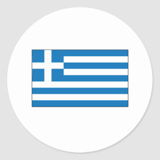 Grekiska flaggaT-tröja och gåvor Klistermärken