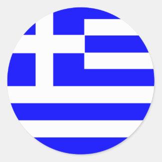 Grekiska klistermärkear runda klistermärken