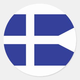 Grekiska kungliga marinkommendörer, Grekland Rund Klistermärke