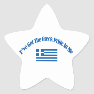 grekiska patriotiska flaggadesigner stjärnformat klistermärke