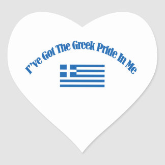 grekiska patriotiska flaggadesigner hjärtformat klistermärke
