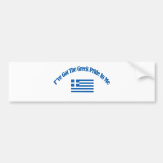 grekiska patriotiska flaggadesigner bildekal