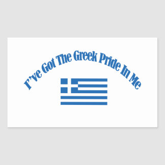 grekiska patriotiska flaggadesigner rektangulärt klistermärke
