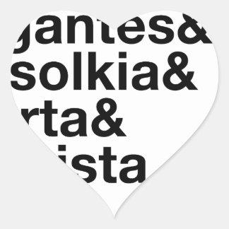 Grekiska Veggies! Hjärtformat Klistermärke
