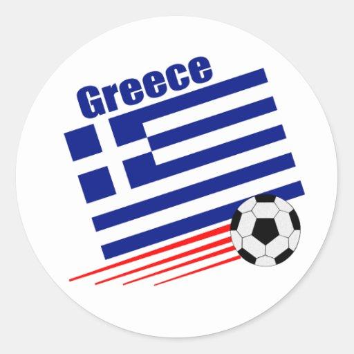 Grekiskt fotbolllag runda klistermärken