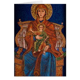 Grekiskt ortodoxt hälsningkort hälsningskort