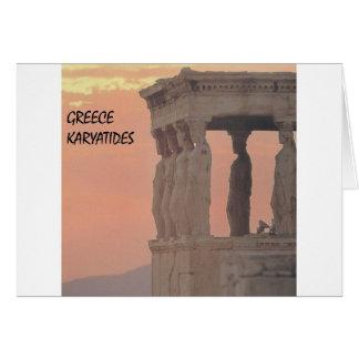 Grekland Athens parthenon-Karyatides (St.K) Hälsningskort