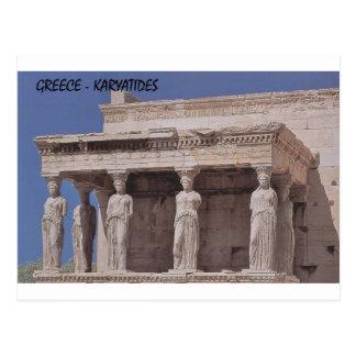 Grekland Athens parthenon-karyatides (St.K) Vykort