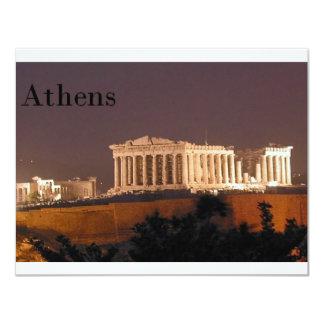 Grekland Athens Parthenon (St.K) 10,8 X 14 Cm Inbjudningskort