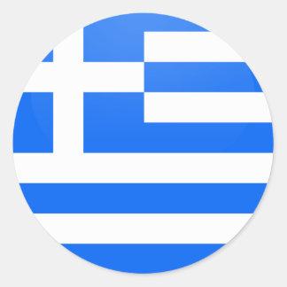 Grekland cirklar den kvalitets- flagga runda klistermärken