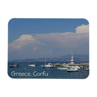 Grekland Corfu, gammal fyr, magnet