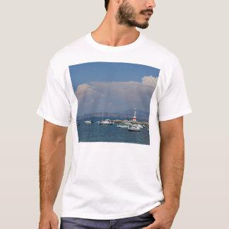 Grekland Corfu, gammal fyr, manar T-tröja Tshirts