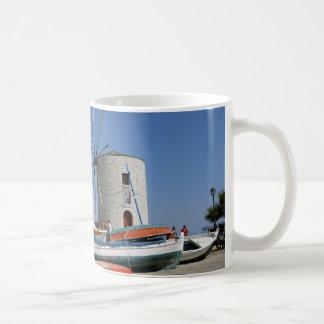 Grekland Corfu, gammal kvarn, kaffemugg