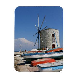 Grekland Corfu, gammal kvarn, magnet