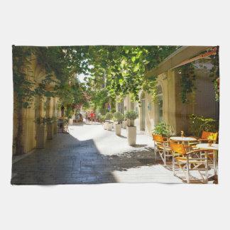 Grekland Corfu gata, kökshandduk