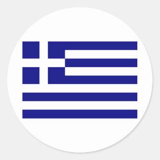 Grekland-Flagga Runda Klistermärken