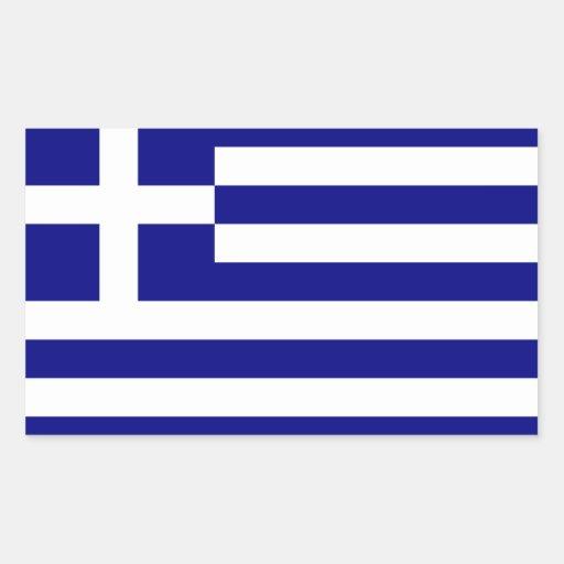 Grekland flagga rektangelformade klistermärken