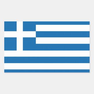 Grekland flagga rektangulärt klistermärke