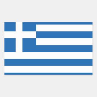 Grekland flagga Stickers*   Ελλάδα Σημαία Rektangulärt Klistermärke