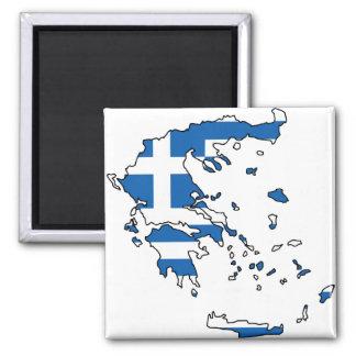 Grekland flaggakarta GR Magnet