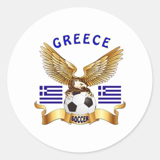Grekland fotbolldesigner rund klistermärke