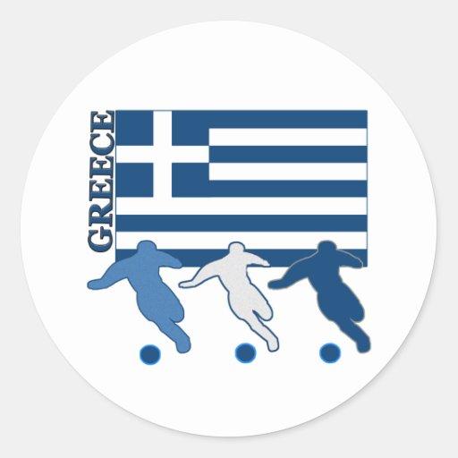 Grekland - fotbollspelare runda klistermärken