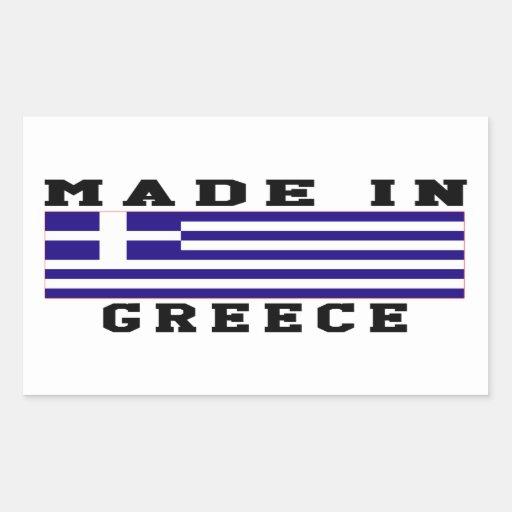 Grekland gjorde i designer rektangelformade klistermärken