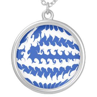 Grekland Gnarly flagga Halsband Med Rund Hängsmycke