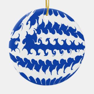 Grekland Gnarly flagga Julgransdekoration