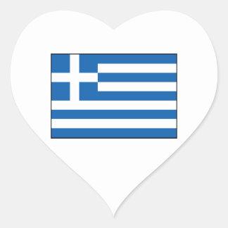 Grekland - grekisk flagga hjärtformade klistermärken