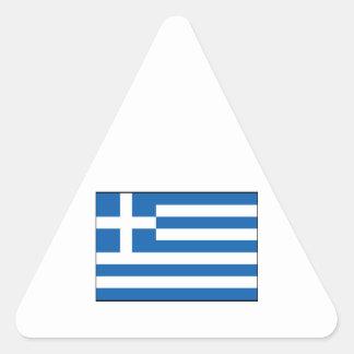 Grekland - grekisk flagga triangle stickers