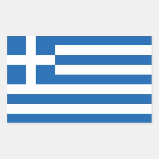 Grekland/grekisk flagga rektangelformade klistermärken