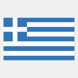 Grekland/grekisk flagga rektangulärt klistermärke