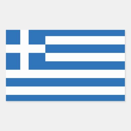 Grekland - grekisk medborgareflagga rektangelformade klistermärken