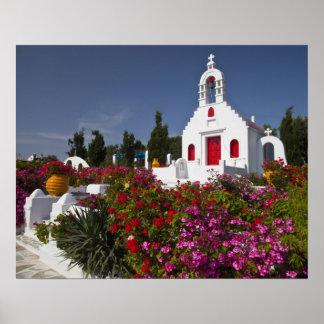 Grekland Mykonos, gulligt lite kapell i Poster