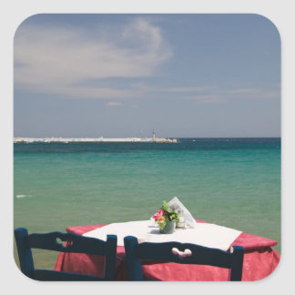 GREKLAND nordöstra Aegean öar, SAMOS, 4 Fyrkantigt Klistermärke