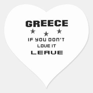 Grekland, om du inte älskar det, lämna hjärtformat klistermärke